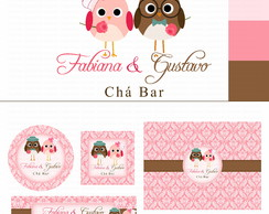 Identidade Visual Ch� Bar Love Birds