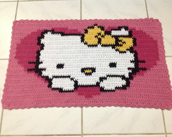 Tapete Croch� Hello Kitty Cora��o