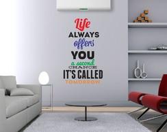 Adesivo Frase Life 120cmx75cm
