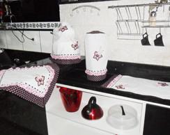 Conjunto para cozinha - fofurinha rosa
