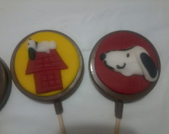 Pirulito de chocolate Snoopy