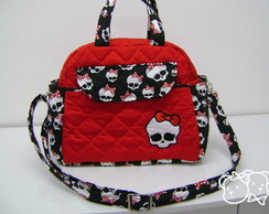 BOLSA M VERMELHA COLE��O PV MONSTER HIGH
