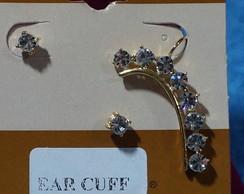 Ear Cuff Strass com par de brincos