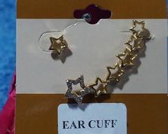 Ear Cuff Estrela Strass Com Brinco
