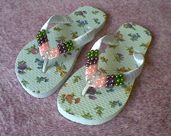 Chinelo Decorado - mini-Flores