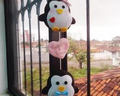 Casal de pinguins em feltro