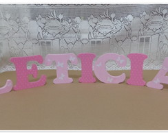 Letra Decorada - 15 Cm Altura - Leticia
