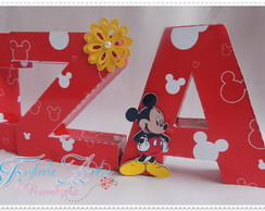 Letras 3d Minnie e Mickey