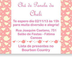 Ch� de Panela Convite
