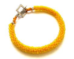 Pulseira Snake Masculina - amarela
