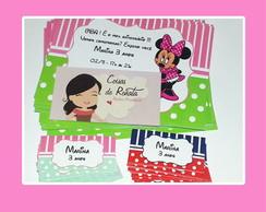 Convite e tag Minnie