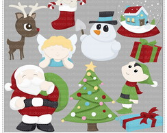 Xmas Collection 2 Clipart Digital