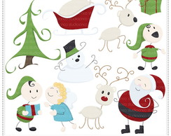 Xmas Collection 1 Clipart Digital