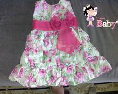 Vestido Balone Floral Rosa