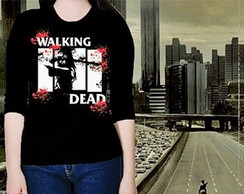 CAMISETA FEMININA 3/4 - WALKING DEAD