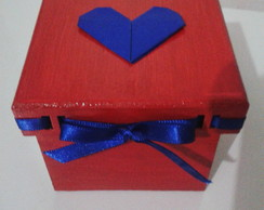 Caixa Multiuso Cora��o Origami VENDIDA
