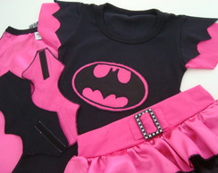 Roupa completa Batgirl/Mulher Gato-Pink