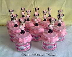 Pote de guloseimas minie rosa