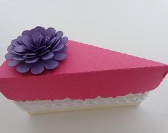Lembrancinha caixa fatia de bolo