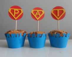 Wraper E Topper Cupcake do Super Homem