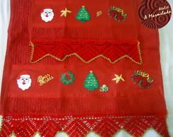 Toalha de Natal com croch�