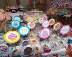 Topper Doces/cupcakes Doceria