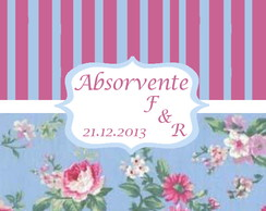 Kit toillet r�tulos e envelopes rosa e