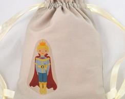 saquinho surpresa: mini mochila pr�ncipe
