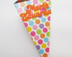 20 Cones coloridos scrap nome