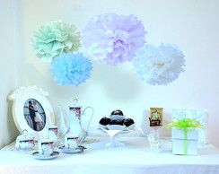 Decora��o Pompom Seda Kit 10 Eco