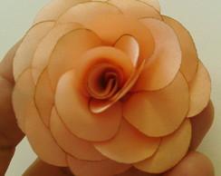 Flor para Lapela - Tafet� Salm�o