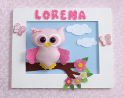 Porta Maternidade Coruja Rosa