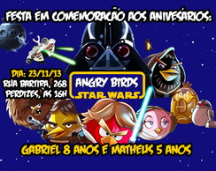 CONVITE ANGRY BIRDS STAR WARS