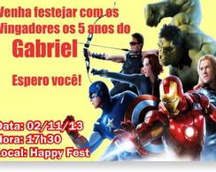 Vingadores Convite Anivers�rio