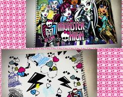 Caderno personalizado Monster High