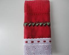 Toalha Lavabo Vaso De Flores