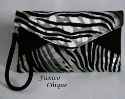 Carteira envelope animal print
