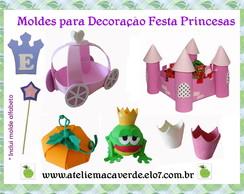 MOLDES PARA DECORA��O FESTA PRINCESA