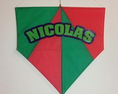 Pipa com nome Nicolas