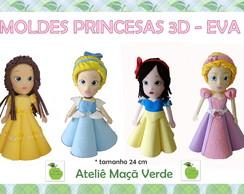 Molde / Risco Princesas 3D Eva