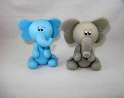 Elefante em Biscuit - Bichinhos Floresta