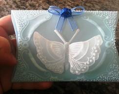 Caixa para bem casado borboleta
