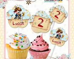 Topper Cupcake Mickey Pirata