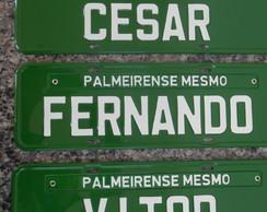 PLACA PALMEIRENSE MESMO (3 UNID)