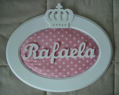 (MA 0153) Quadro oval princesa Rafaela
