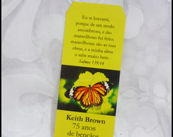 Marcador De P�gina - Borboleta amarela