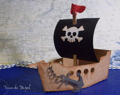 Navio Pirata [porta doces]