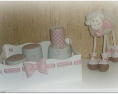 kit higiene porcelana ovelha
