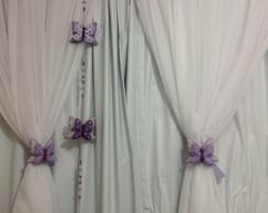 Enfeite de borboletas para cortina