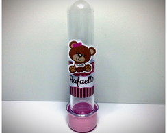 Tubete - Urso marrom com rosa